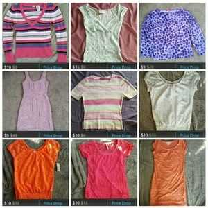 Tops - Closet clear out lot